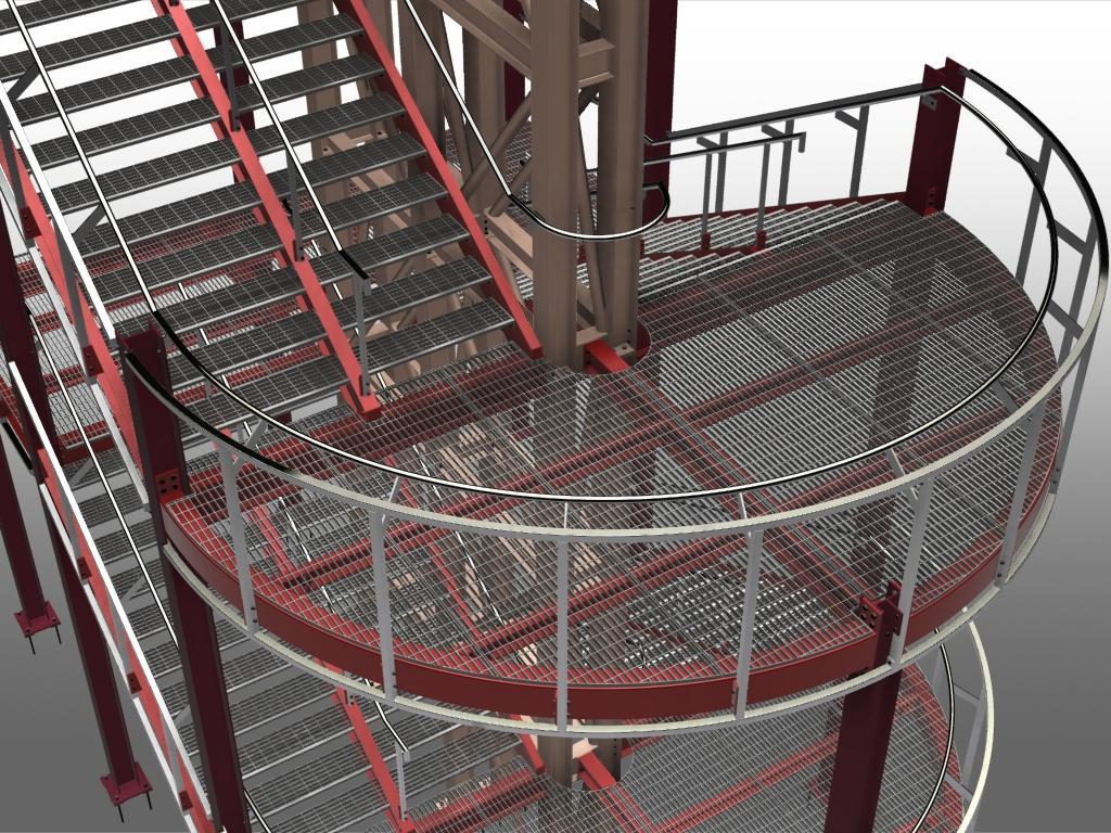 Advance steel treppen und gel nder software f r for Stahlbau statik beispiele