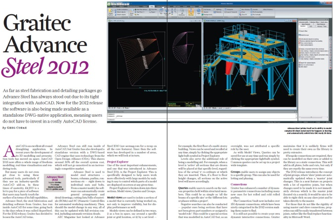 AEC Magazine reviews GRAITEC Advance Steel 2012