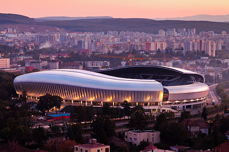 Cluj Arena Stadium, designed with ADVANCE Steel, nominated for the WAN Awards 2012