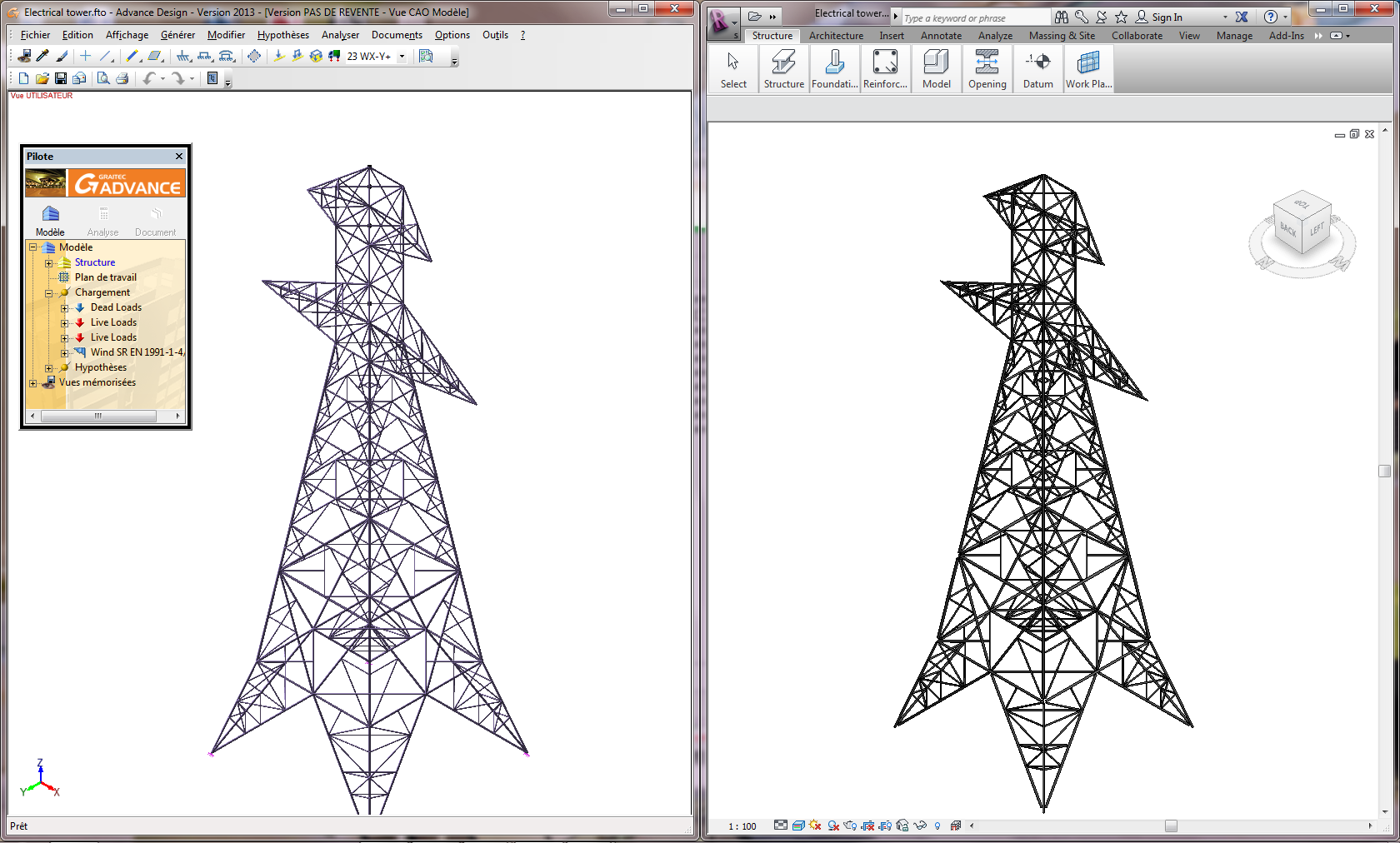 AD-Revit Electrical tower