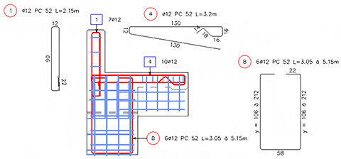 Reinforcement and formwork for complex shapes in Advance Concrete (4/6)
