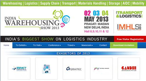 -	GRAITEC will exhibit at India Warehousing Show 2013 in New Delhi