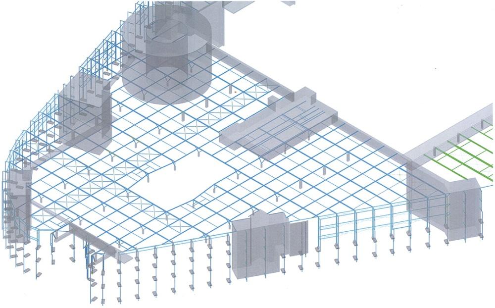 Autodesk Advance Steel Project: Skyline Plaza FFM (4/6)