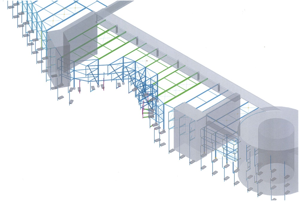 Autodesk Advance Steel Project: Skyline Plaza FFM (5/6)