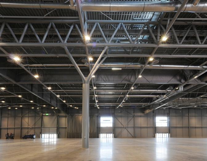 "Advance Steel Project: Exhibition hall ""P"" in Brno Exhibition Center"