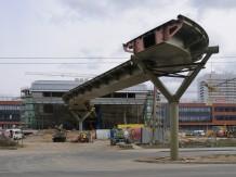Pedestrian foot bridge of University Campus at Brno Bohunice
