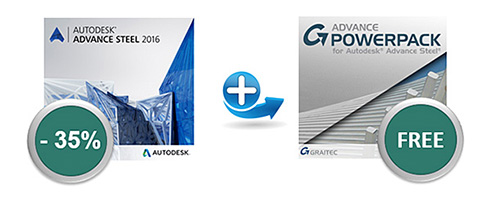 Get 35% Discount on a new Autodesk Advance Steel License