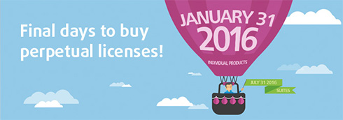 Last few days to buy Perpetual Licenses for most individual products