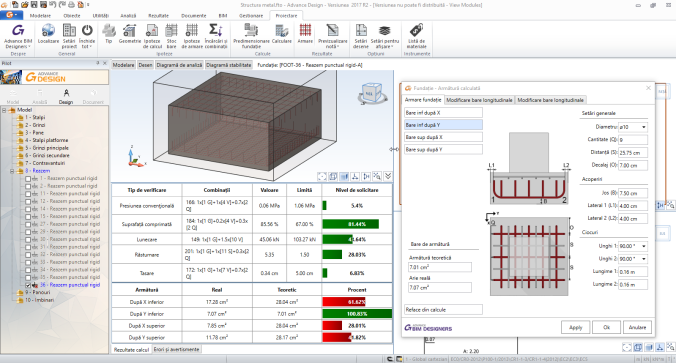 Presizing reinforced concrete footings directly in Advance Design